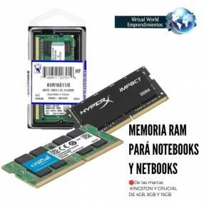 Memoria ram para notebooks y netbooks